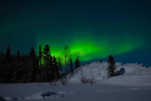 Heiratsantrag Idee Aurora Borealis