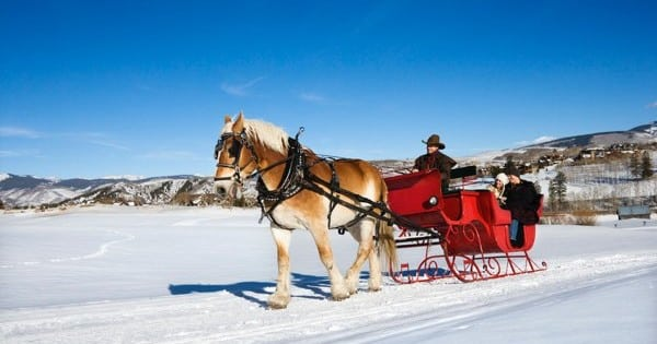 Heiratsantrag im Winter