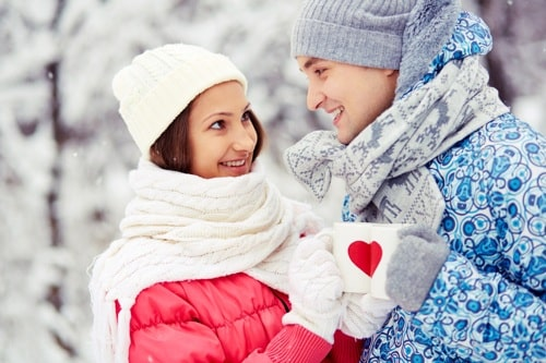 Heiratsantrag im Winter machen