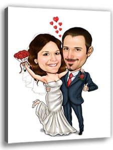 Ein Heiratsantrag mit einer Karikatur ist eine lustige Geschenkidee