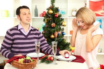 Heiratsantrag zu Weihnachten