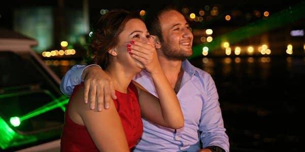 Exklusiver Heiratsantrag bei einer Yachttour