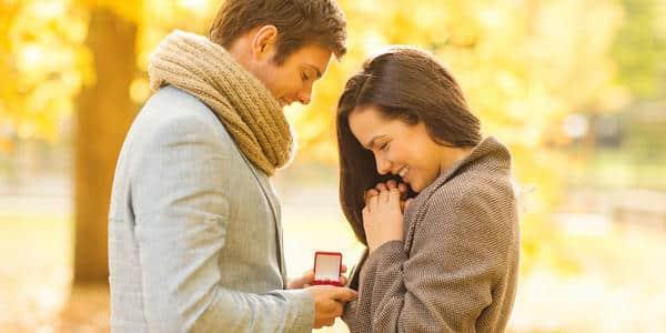 außergewöhnlicher Heiratsantrag