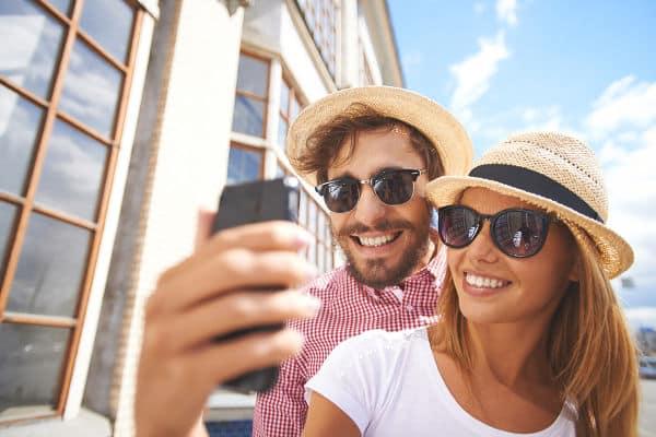 Selfie beim Heiratsantrag