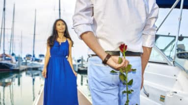 Heiratsantrag der Extraklasse mit Luxus