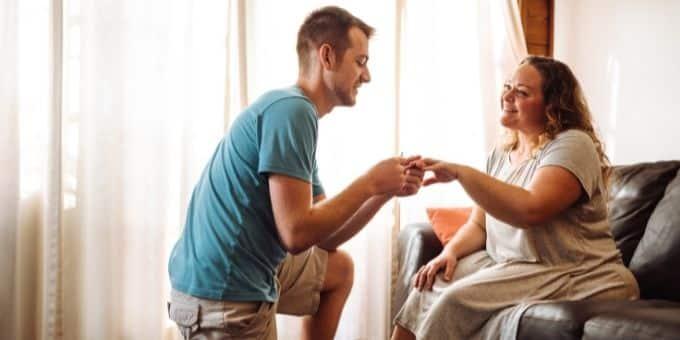 Schönsten Orte für einen Heiratsantrag Platz 2 - Zuhause