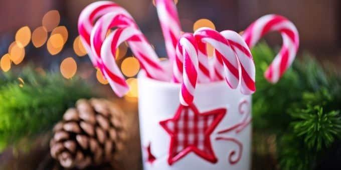 Zuckerstange für Heiratsantrag am Christkindlmarkt