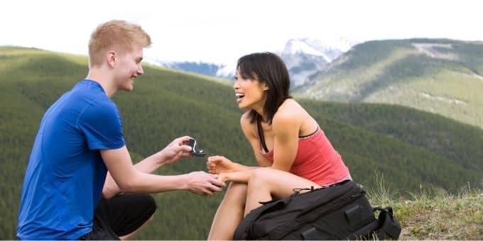 Schönsten Orte für einen Heiratsantrag - Platz 1: im Freien